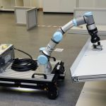 Evorobot with mounted robot arm